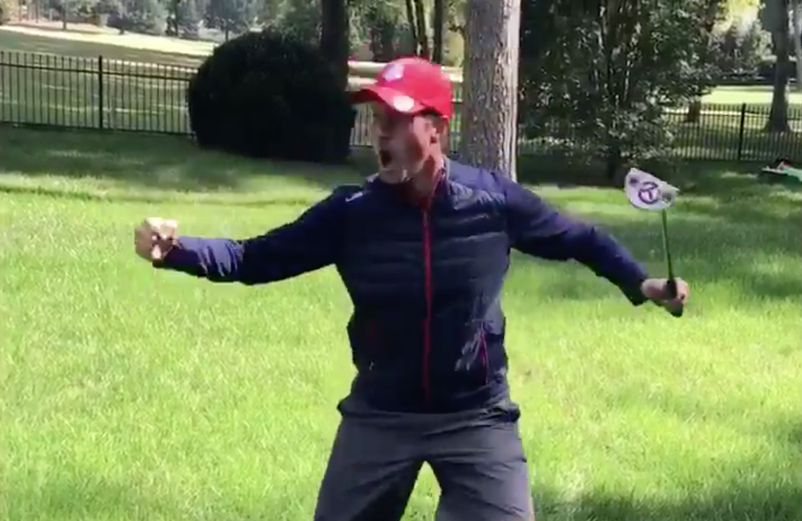 Webb Simpson recreated some of the best celebrations from Sunday at the Ryder Cup.