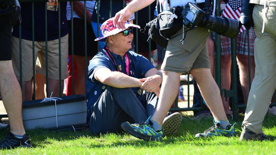 Bill Murray on Sunday at the 2016 Ryder Cup