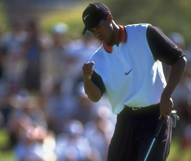 Tiger Woods won the Las Vegas Invitational in just his fifth career event.