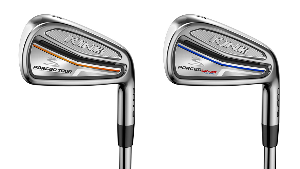 The Cobra King Forged Tour iron (left) and the Forged Tour One Length model.