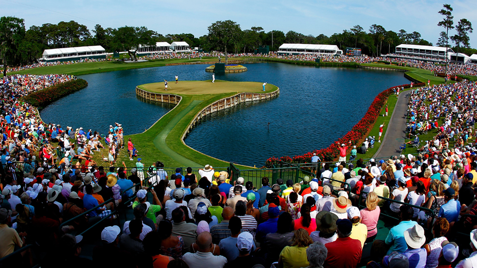 The island green 17th at TPC Sawgrass is one of the best holes on Tour.