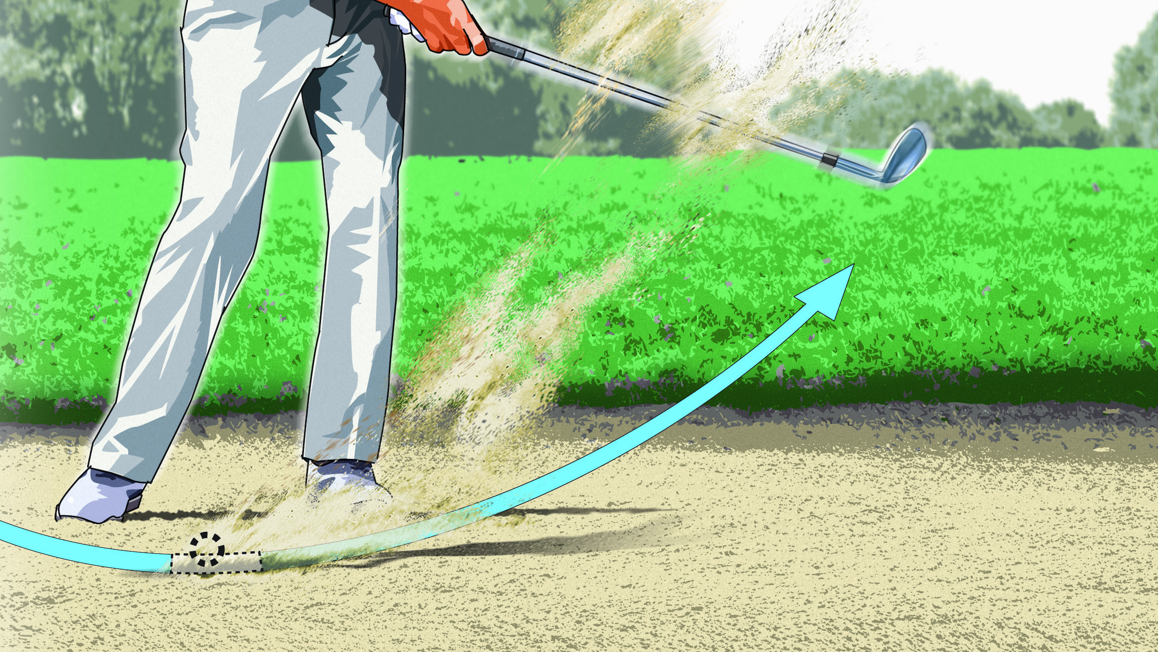 Instead of chunking it or skulling it, your new grip helps you take the perfect amount of sand every time.