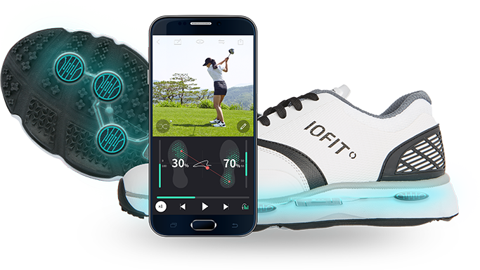"The ""smart"" golf shoes from Iofit."