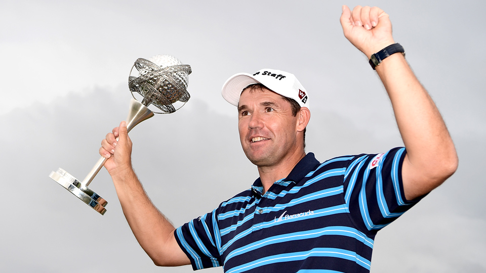 Padraig Harrington found his way into the winner's circle for the first time in eight years on Sunday.