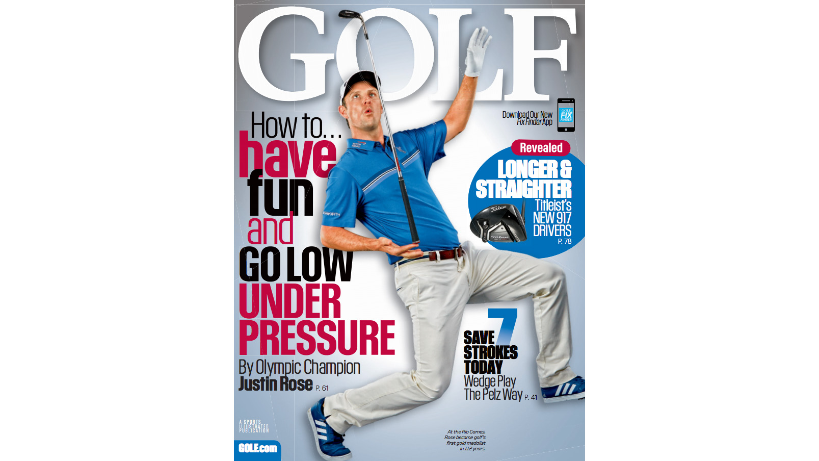 Justin Rose Lands the November Cover of GOLF