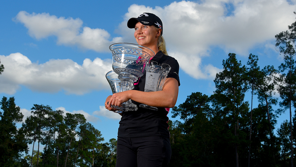 Sagstrom was the 2016 Symetra Tour Player of the Year, Rookie of the Year and leading money winner.