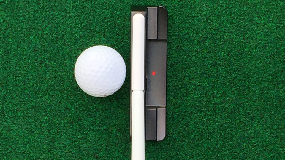 Another look at the alignment aid on the Shaftlign putter.