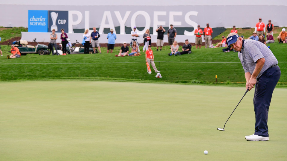 Colin Montgomerie during the PowerShares QQQ Championship.