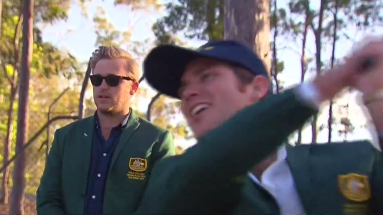 Morgan Ruig and Evan Shay as seen in Nine News Australia's video report.