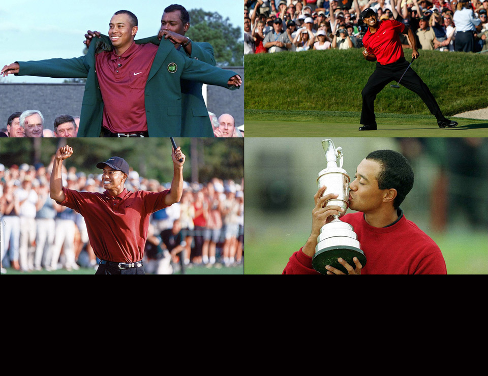 Tiger Woods has won 14 majors in his career, second only to Jack Nicklaus.