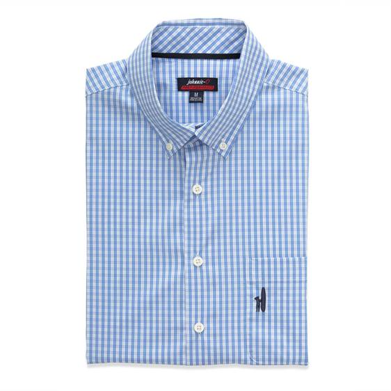 A moisturize-wicking, wrinkle-averse button down in classic blue, green, or red check, the Prep-formance shirt can be worn on or off the golf course. It's designed to be comfortable and easy to wear, and to stay dry and pressed-looking throughout the day,