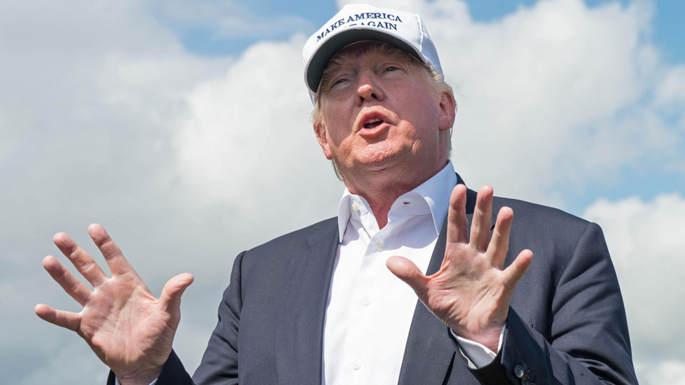 Donald Trump owns a portfolio of 17 golf courses around the world.