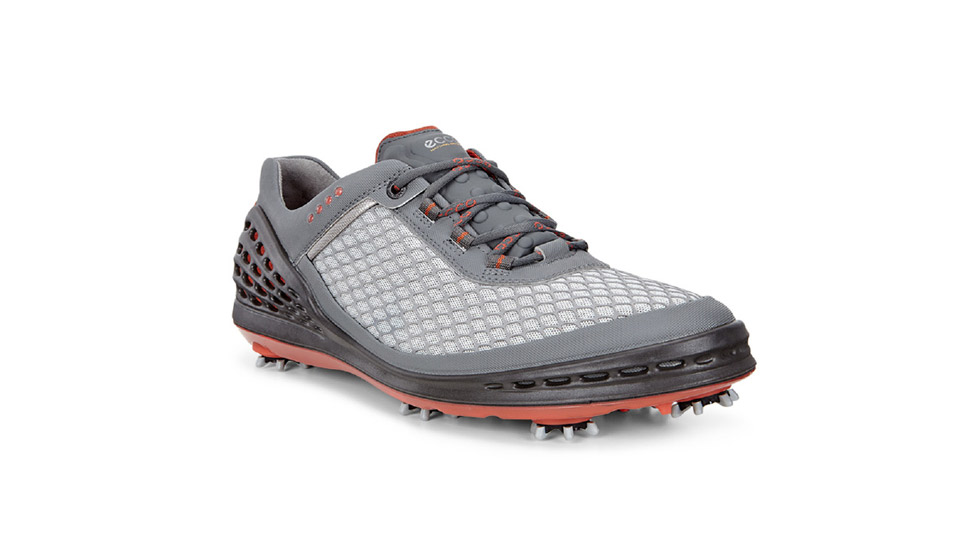 "The EVO has a water-resistant mesh upper with protective polyurethane webbing. A polyurethane ""cage"" wraps around the heel, the midsole and across the toe box to provide a stable, secure fit. Plus, the anatomically engineered outsole moves with your feet, while the roomy forefoot allows toes to flex naturally and the Champ Zarma Tour cleats keep you connected to the ground.  BUY NOW"