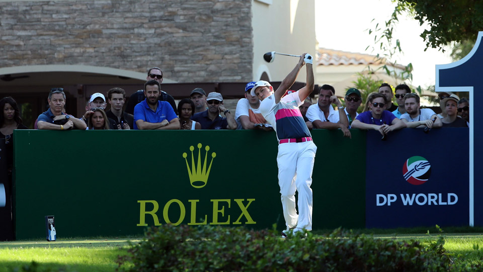Sergio Garcia during the second round of the World Tour Championship.