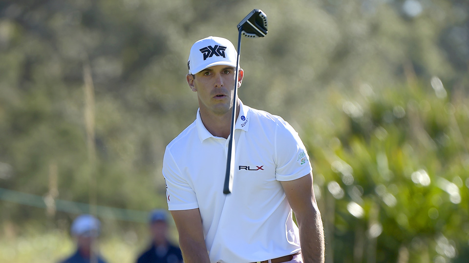 Billy Horschel was eliminated from the RSM Classic playoff after missing a short putt.
