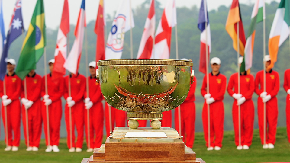 The World Cup of Golf trophy is named after founder John Jay Hopkins.