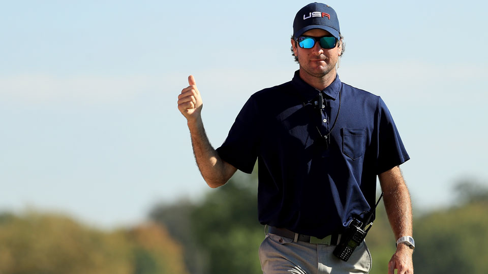 Bubba Watson joined the U.S. Ryder Cup effort as a vice captain after being passed over as a player.