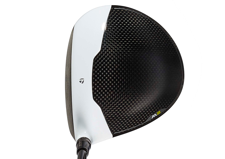 The TaylorMade M2 driver at address.