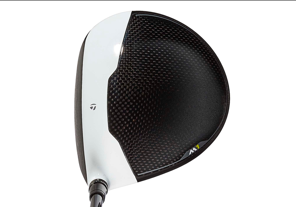 The TaylorMade M1 driver at address.