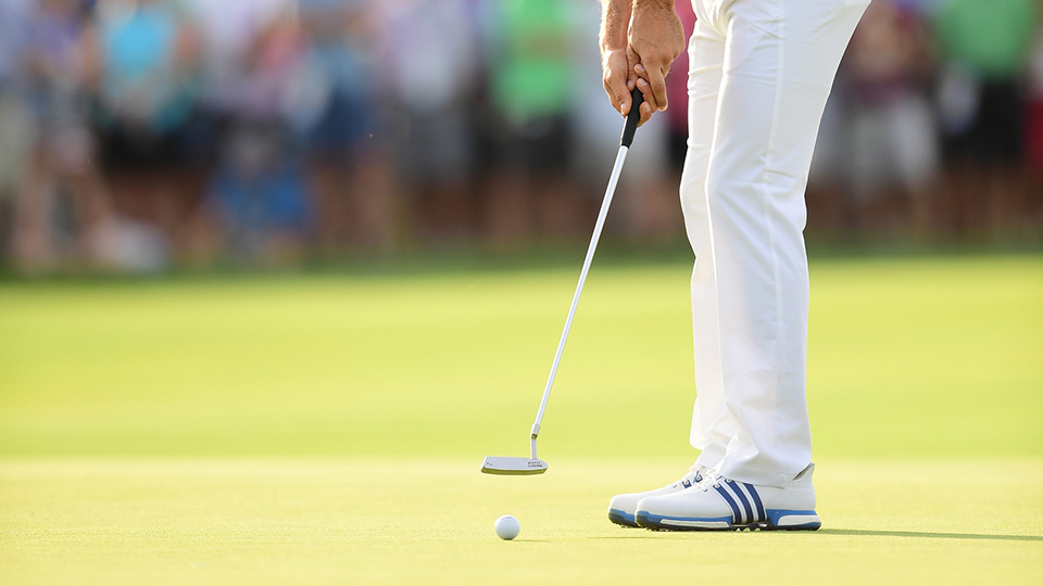 From 2015 to 2016, DJ's putting improved by 0.2 strokes per round.