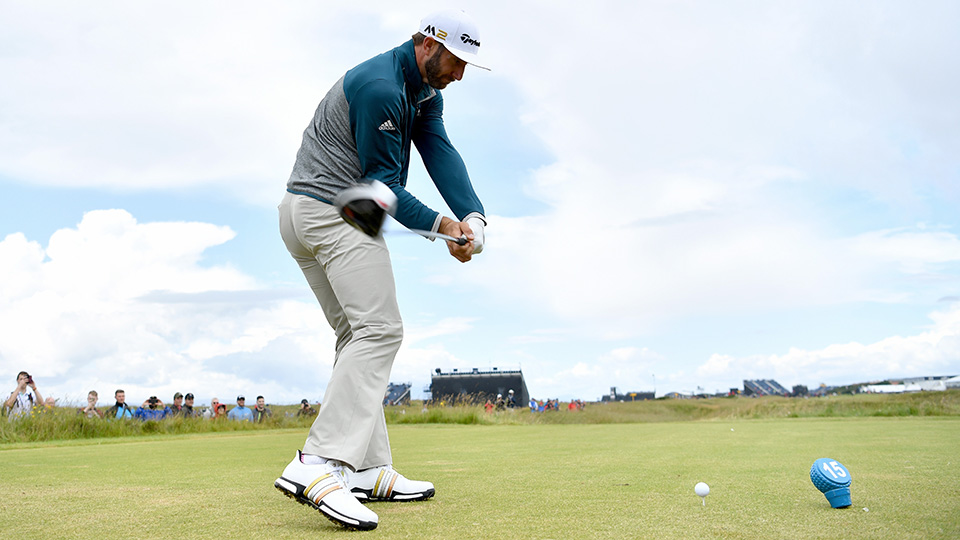 DJ improved his driving by about 0.1 strokes per round, mainly by hitting 0.7 percent more fairways per round.