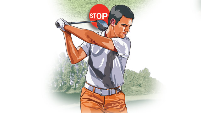 To store the maximum amount of energy in your backswing, turn your hips in the backswing (rather than merely lifting the club to the top).