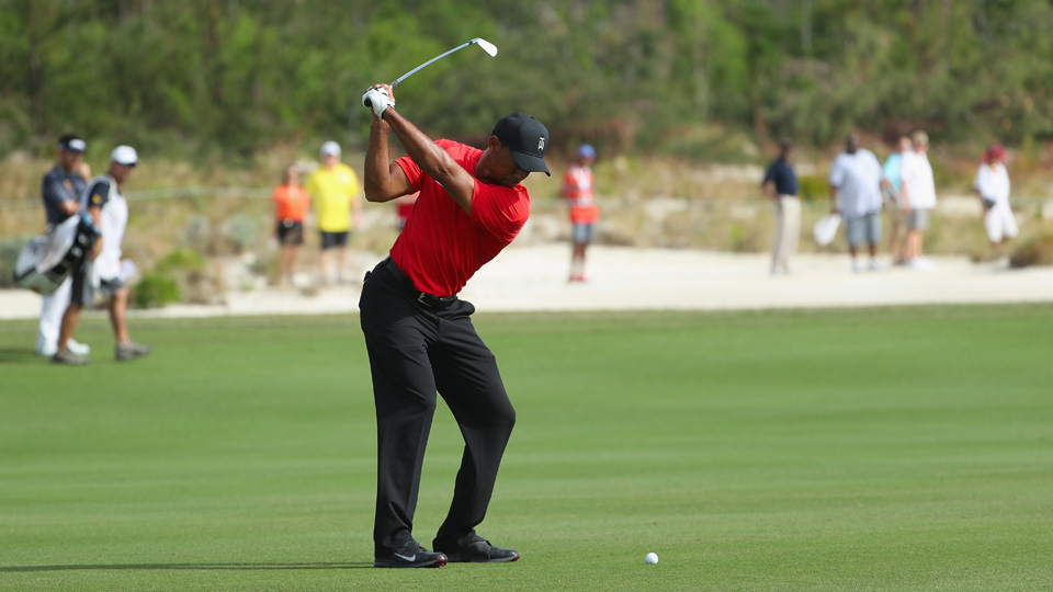 Tiger Woods led the Hero World Challenge field in birdies, but he also carded too many double bogeys.