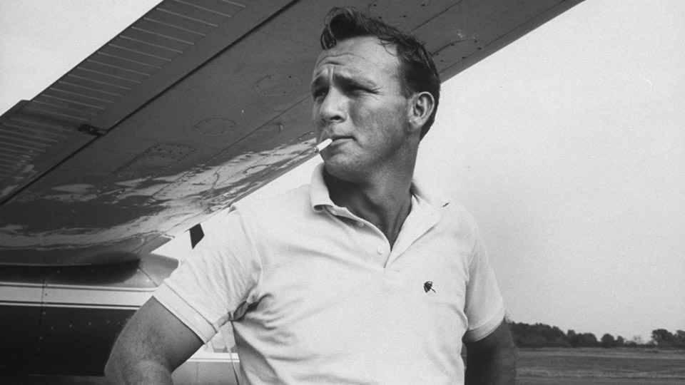 """On or off the course, Palmer was magnetic. In cinematic terms, he was Steve McQueen -- cool and Jimmy Stewart -- accessible."""