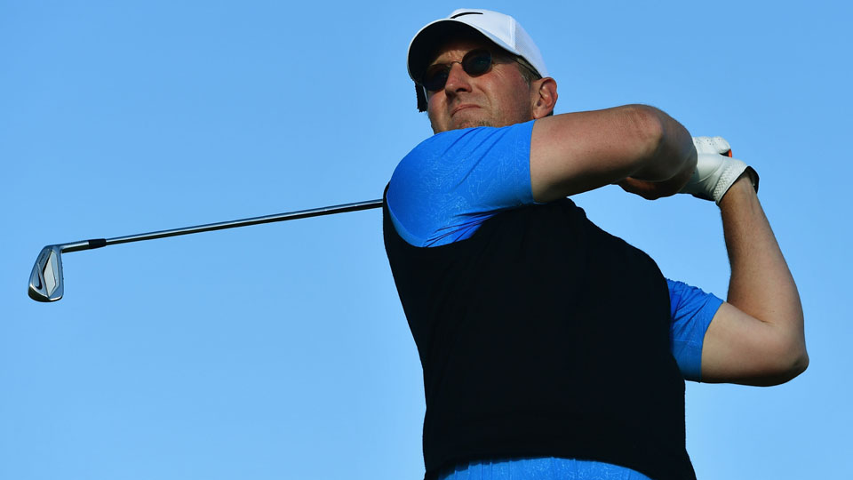 David Duval and stepson Nick Karavites grabbed a first-round lead at the PNC Father/Son Challenge.