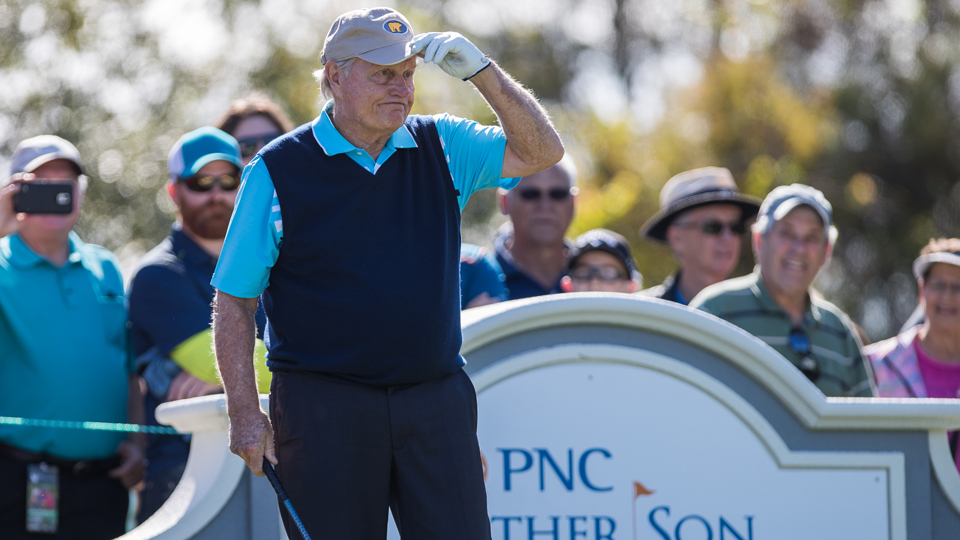 Jack Nicklaus wasn't happy with his play at the Father/Son Challenge.