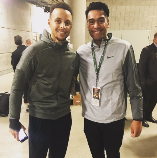 Tony Finau & Steph Curry