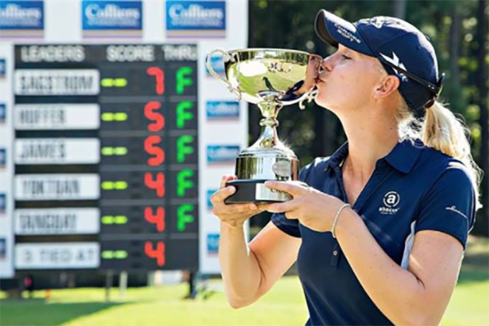 Sagstrom won three times on the Symetra Tour in 2016, securing her an instant promotion to the LPGA tour for 2017.