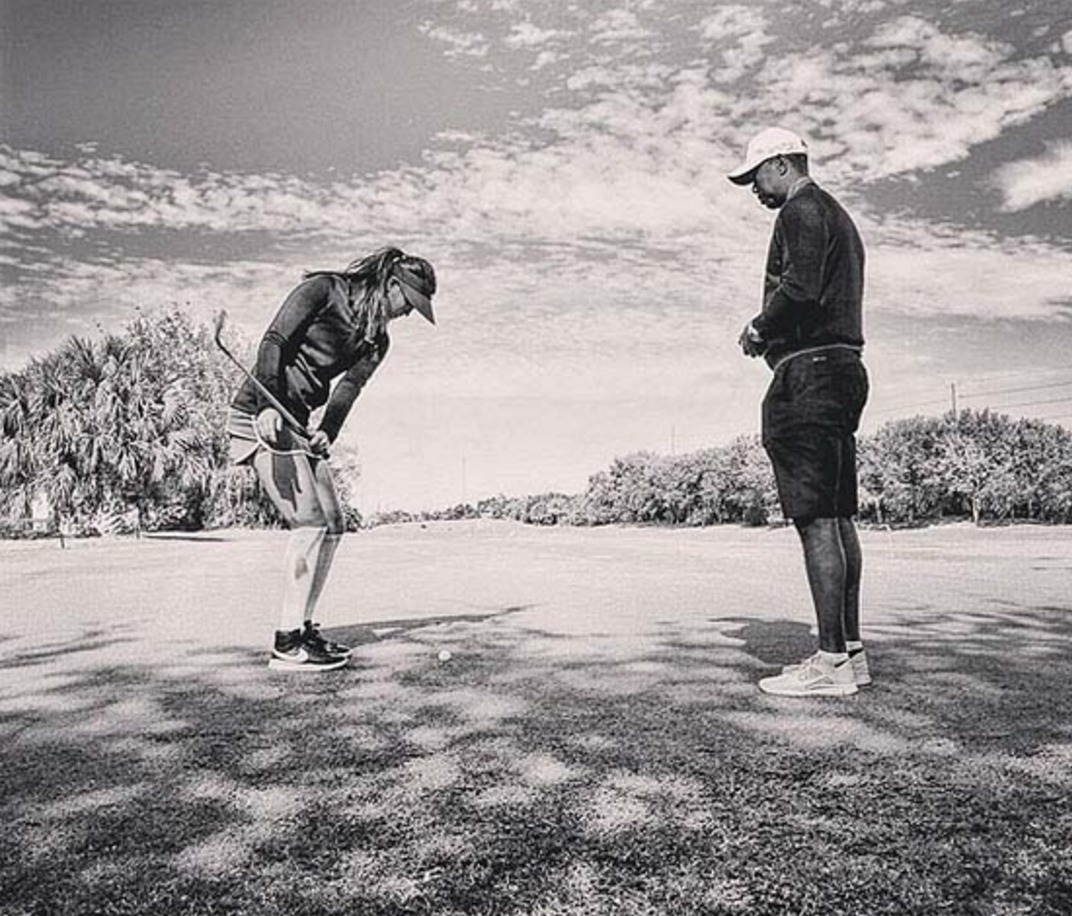 Michelle Wie & Tiger Woods