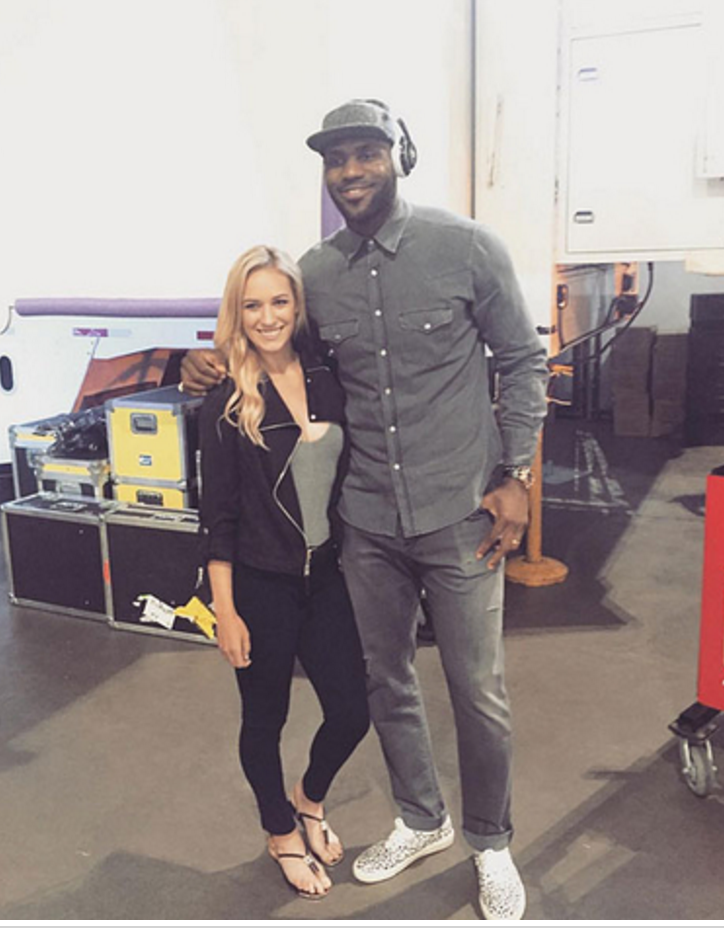 Paige Spiranac & LeBron James