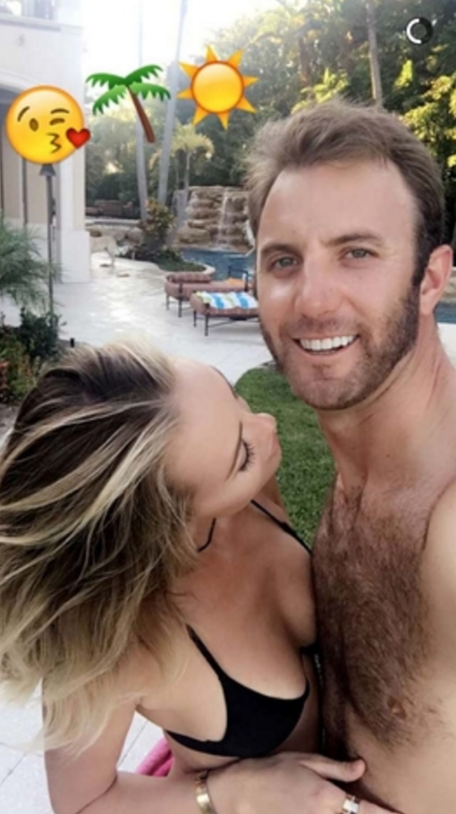 Dustin Johnson & Pailina Gretzky