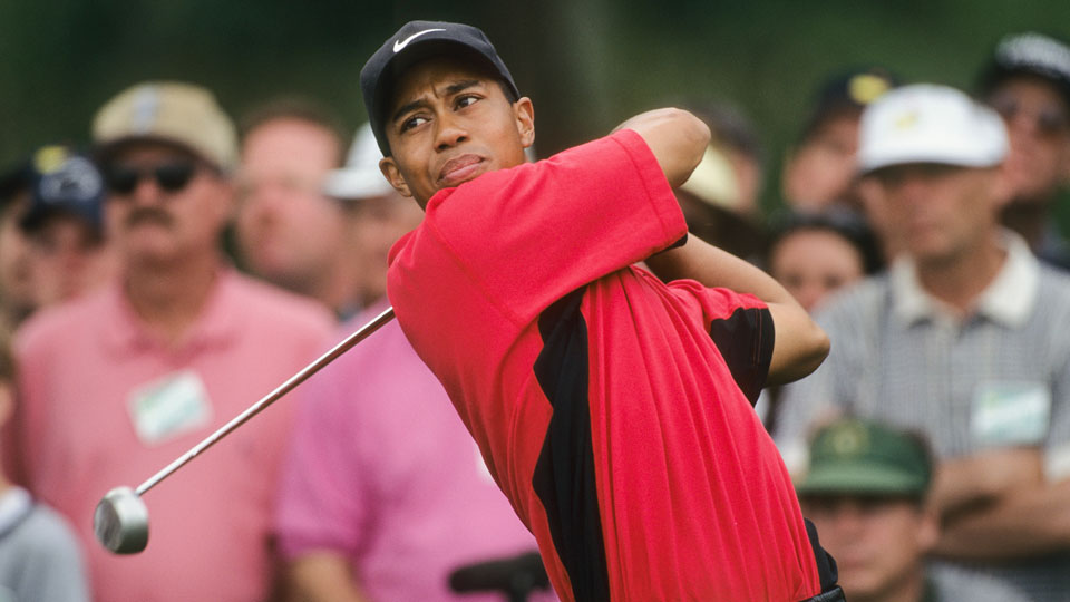 Tiger Woods won his first major title at the Masters in 1997.