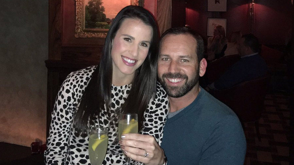 A photo of Sergio Garcia and Angela Akins tweeted by Garcia.