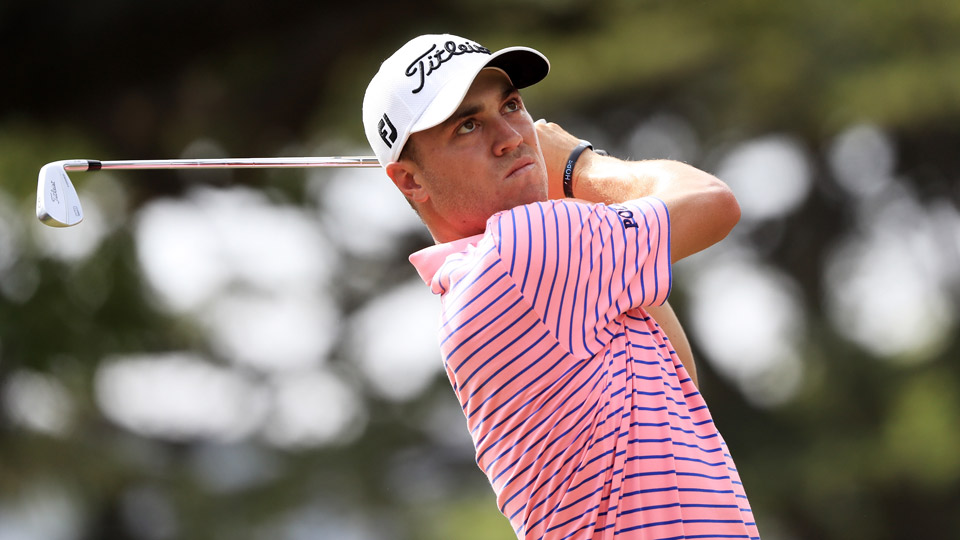 Justin Thomas on Saturday during the third round of the 2017 Sony Open.