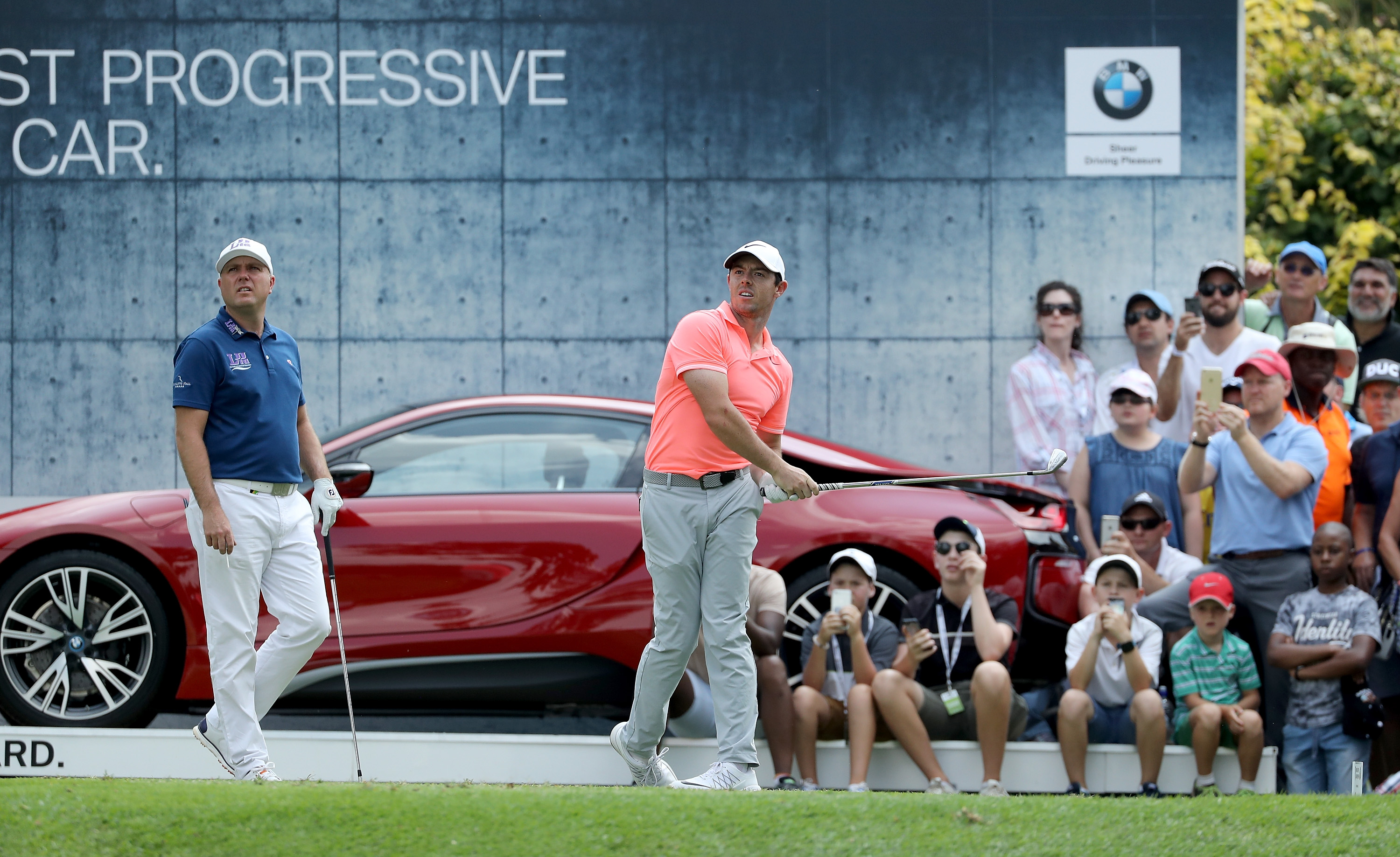 Rory McIlroy played through pain to finish second in a playoff at the South Africa Open.