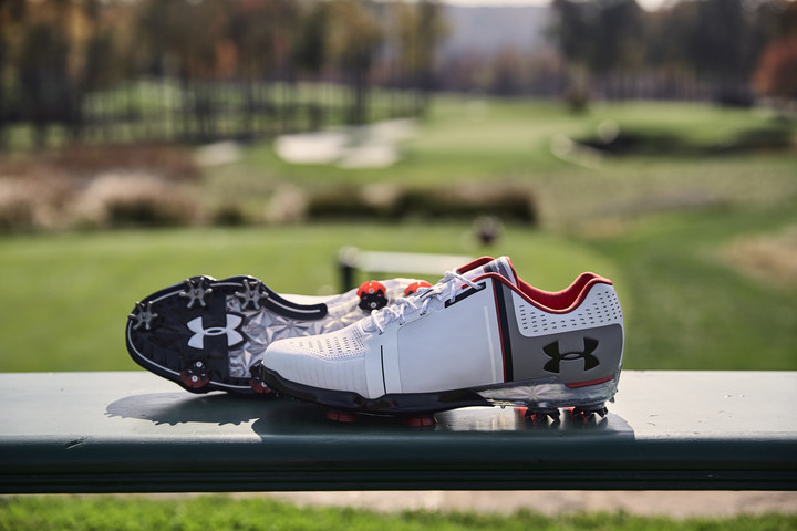 """Jordan Spieth introduces his new golf shoe with Under Armour, the """"Spieth One."""""""
