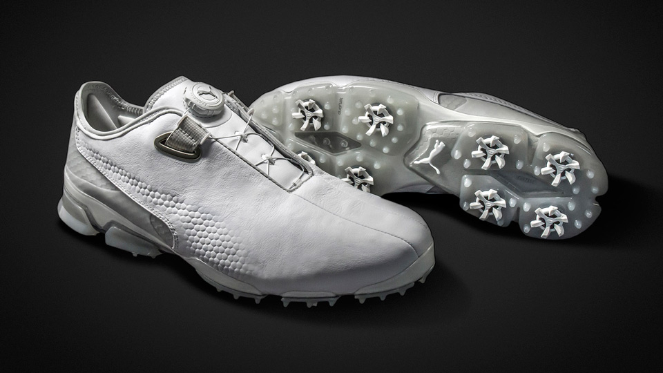 Puma TitanTour Ignite Premium Disc golf shoes.