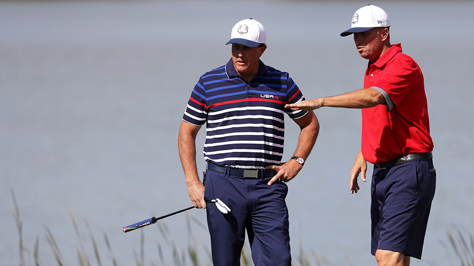 Phil Mickelson isn't the only one returning from surgery this week. His caddie, Jim Mackay, is as well.