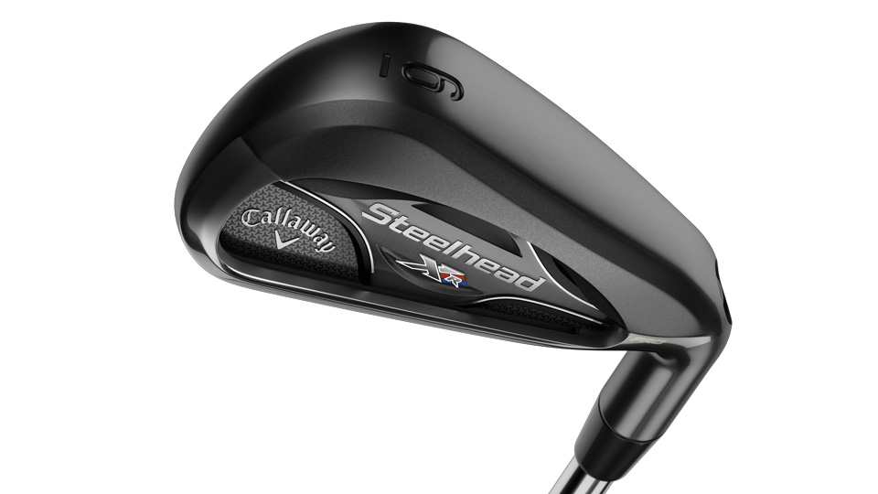 The sole of the Callaway Steelhead XR Pro irons.