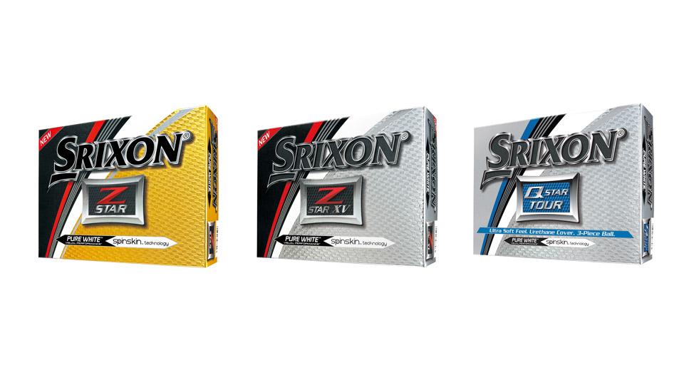 The three new Srixon golf ball models.