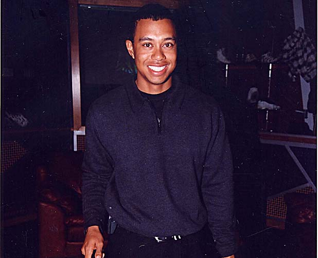 Tiger Woods during Tiger Woods - 18th Birthday Party in Las Vegas, Nevada, United States. (Photo by Jeff Kravitz/FilmMagic, Inc)