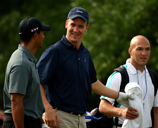 Tiger Woods and Peyton Manning