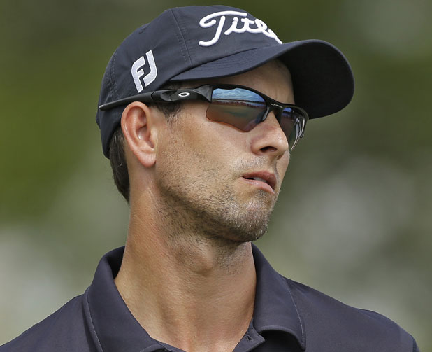 Adam Scott reacts to a missed putt Sunday at Bay Hill.