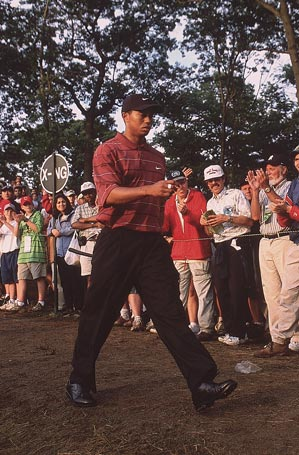 Woods won this U.S. Open by three strokes over Mickelson.