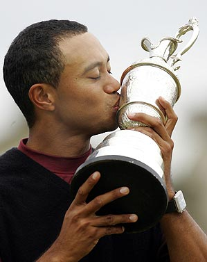 Tiger won his second Open at St. Andrews on his third try.