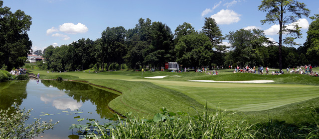 The 489-yard, par-4 11th at Congressional was easily the hardest hole on Saturday.